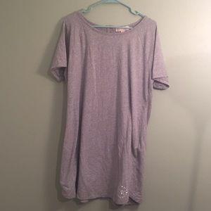 Gray Michael Kors XL T-shirt Dress MKsilver beaded